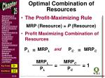 optimal combination of resources2