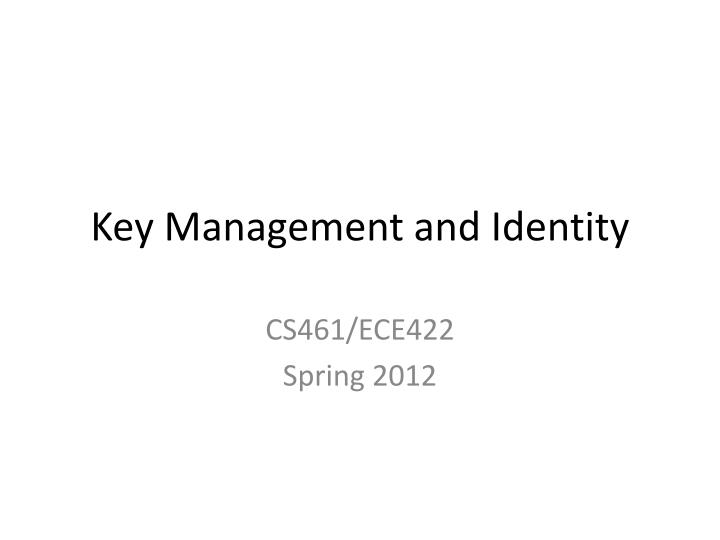 key management and identity n.