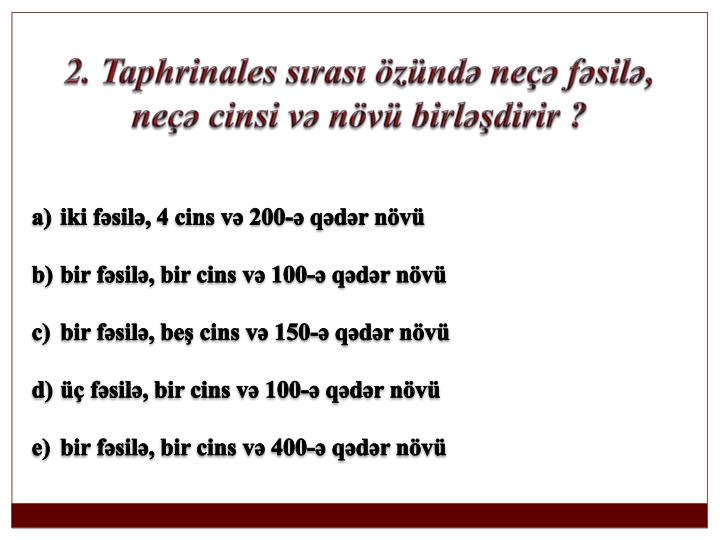 2. Taphrinales