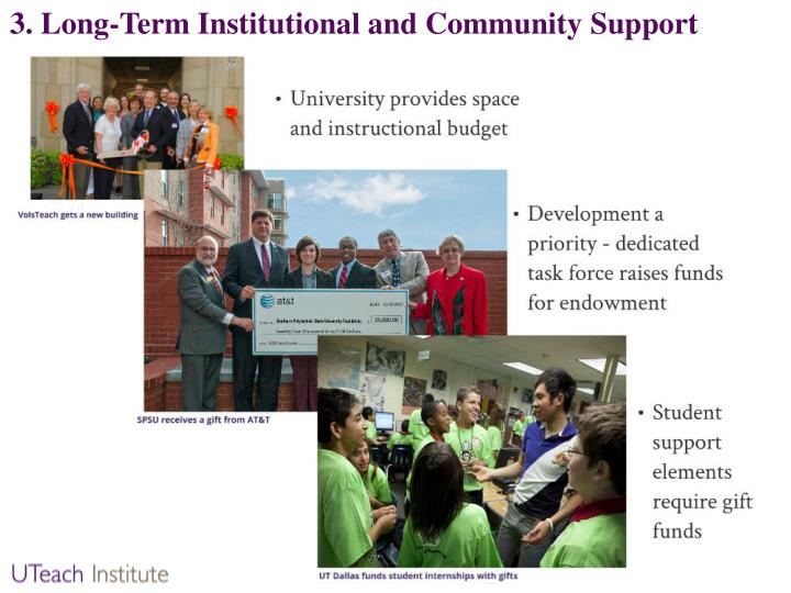 3. Long-Term Institutional and Community Support