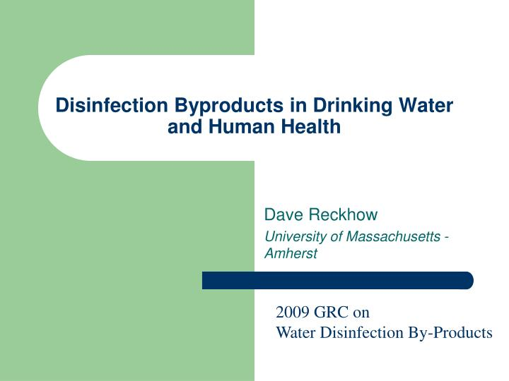 disinfection byproducts in drinking water and human health n.