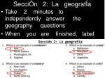 secci n 2 la geograf a