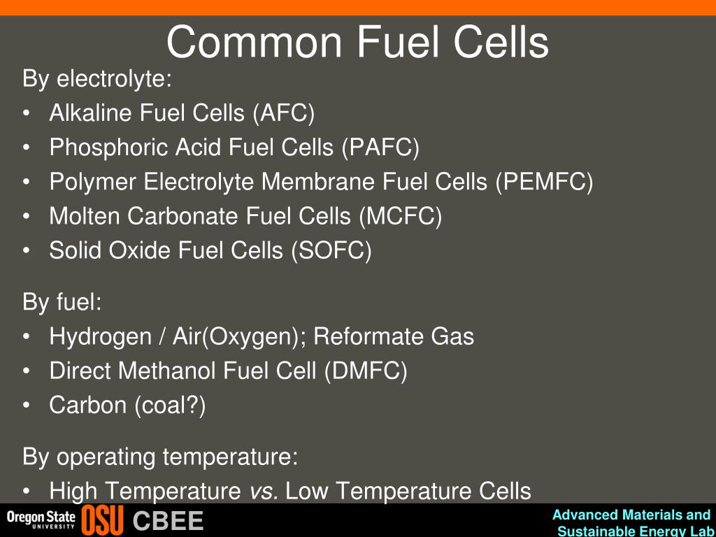 PPT - Electrochemical Energy Systems (Fuel Cells and