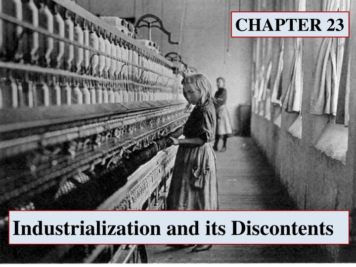 industrialization and its discontents n.