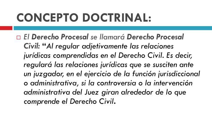Concepto doctrinal1