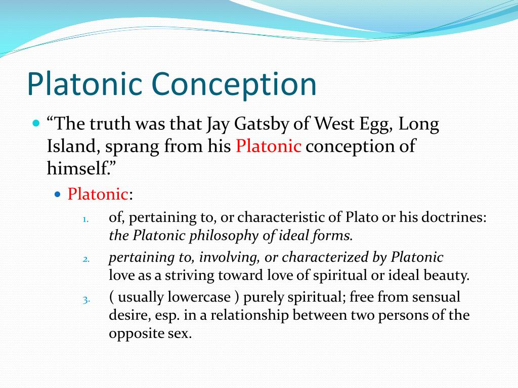 how to write a platonic conception of yourself