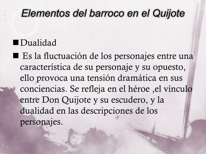 Elementos del barroco en el Quijote