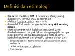 definisi dan etimologi