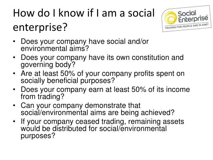 How do i know if i am a social enterprise