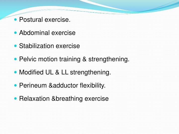 Postural exercise.