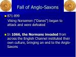 fall of anglo saxons