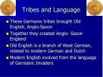 tribes and language
