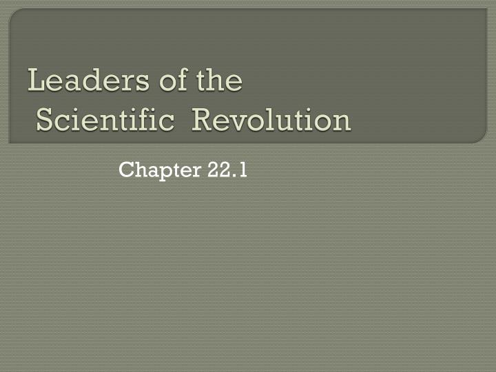 the cause of scientific revolution Further complexity for the scientific revolution as a periodization, the scientific revolution has grown increasingly complex as it has attempted to take account of new research and alternative perspectives, new additions and alterations have been made.