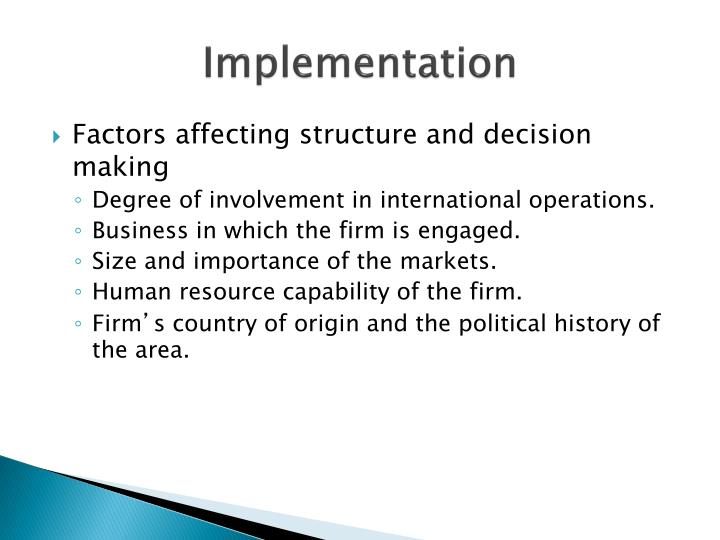 factors that affect policy implementation