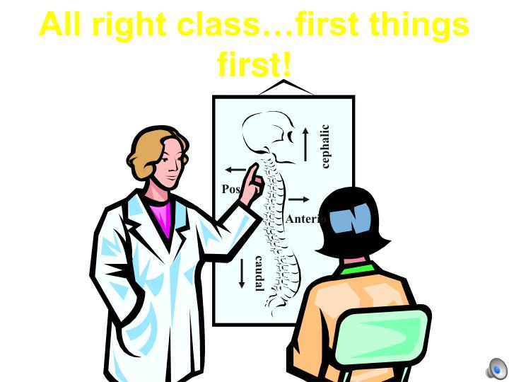 All right class…first things first!