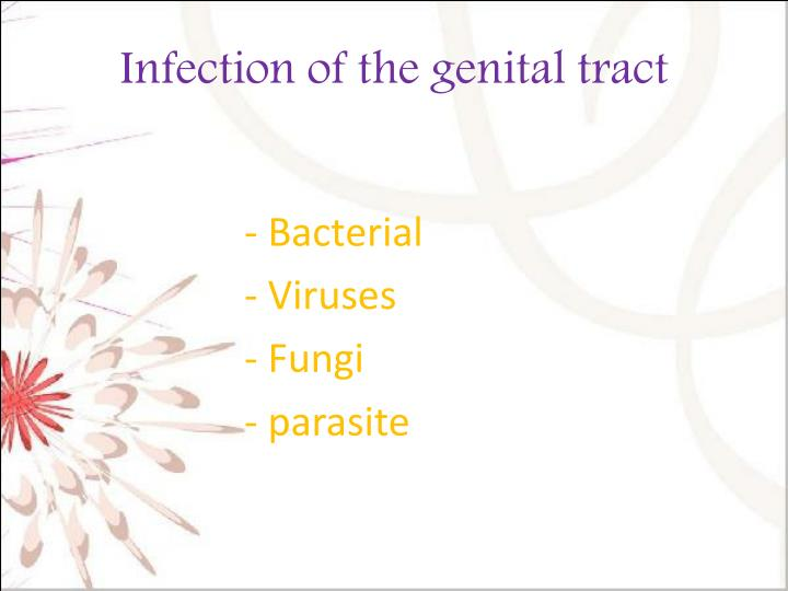 Infection of the genital tract1