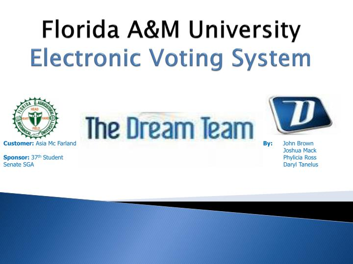 florida a m university electronic voting system n.