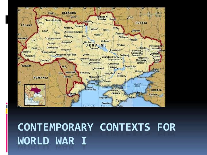contemporary contexts for world war i n.