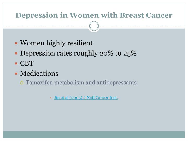 Depression in Women with Breast Cancer