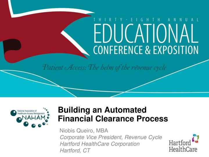 Building an automated financial clearance process
