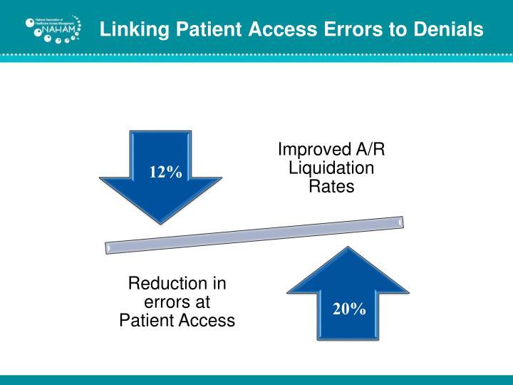 Linking Patient Access Errors to Denials