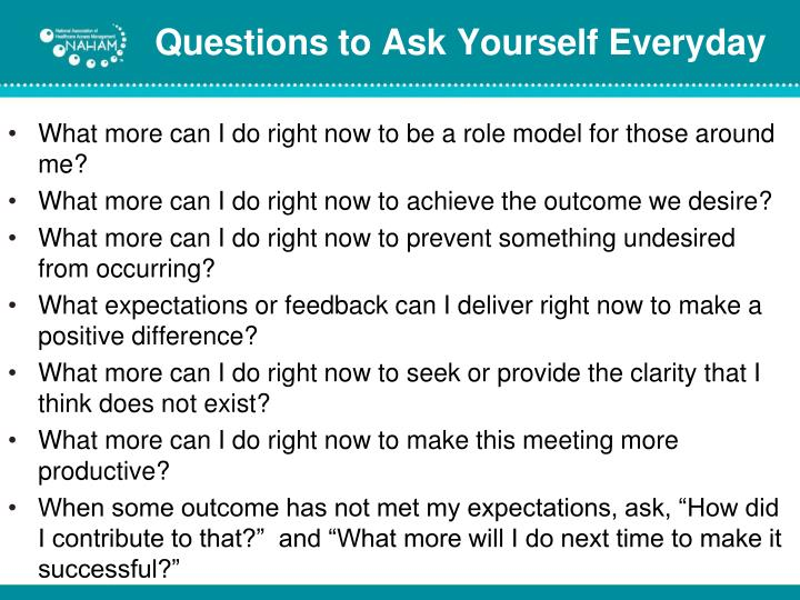 Questions to Ask Yourself Everyday