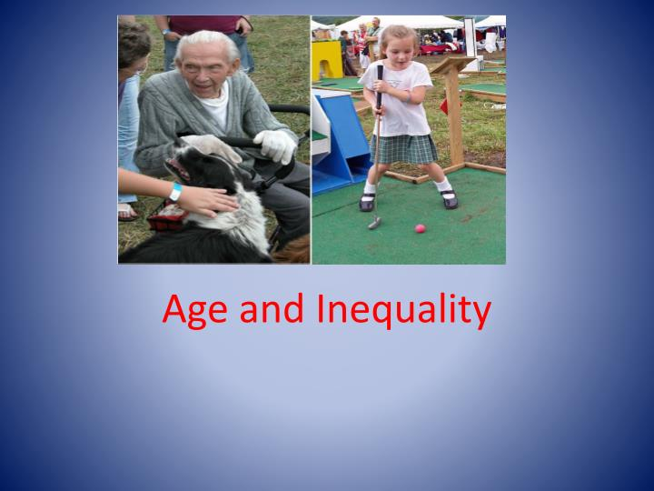 Age and inequality