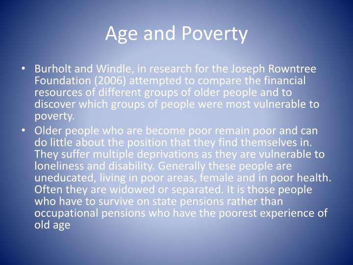 Age and Poverty