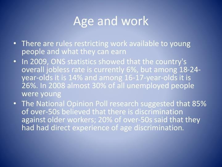 Age and work