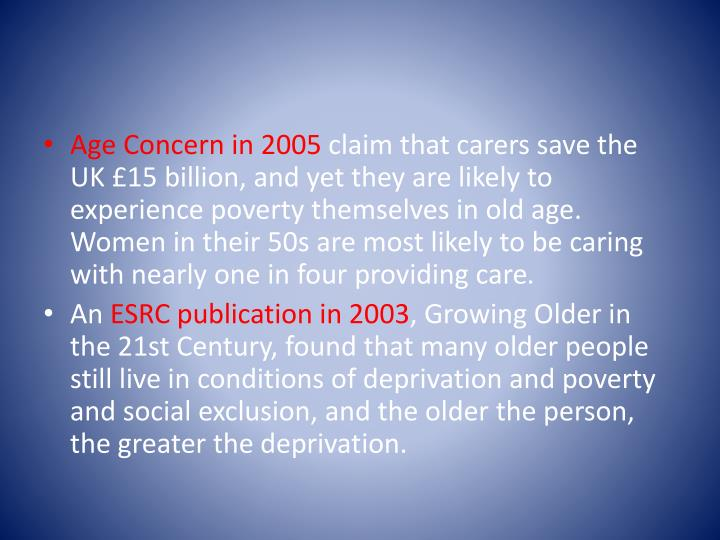 Age Concern in 2005