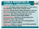visible minorities in canada a breakdown1