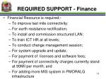 required support finance