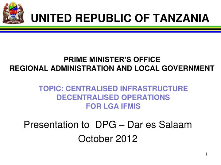 topic centralised infrastructure decentralised operations for lga ifmis n.