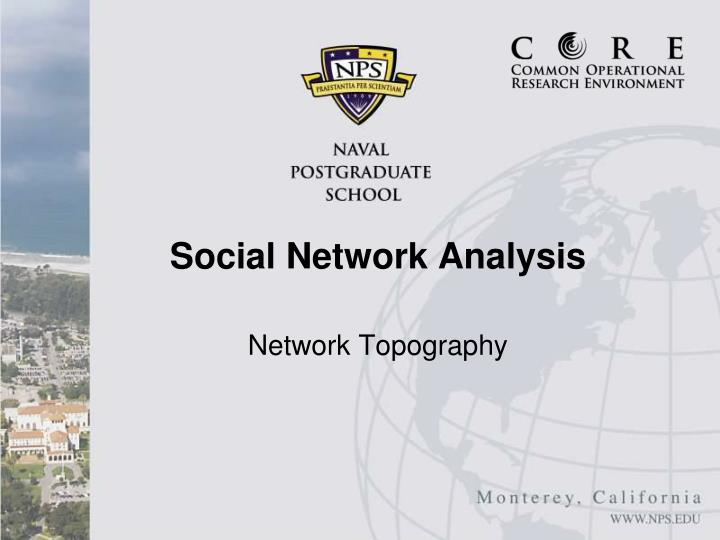 network topography n.