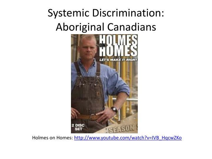 Systemic Discrimination: