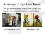 advantages of high spoke tension