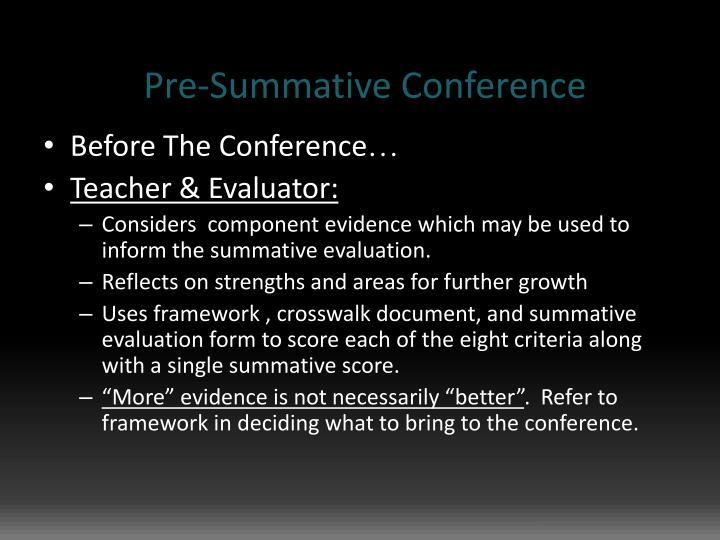 Pre-Summative Conference