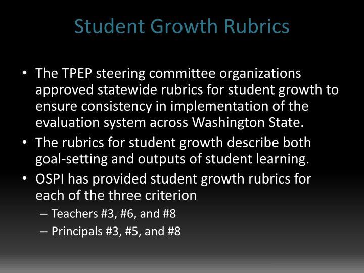 Student Growth Rubrics