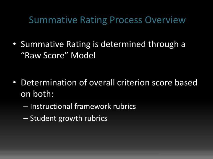 Summative Rating Process