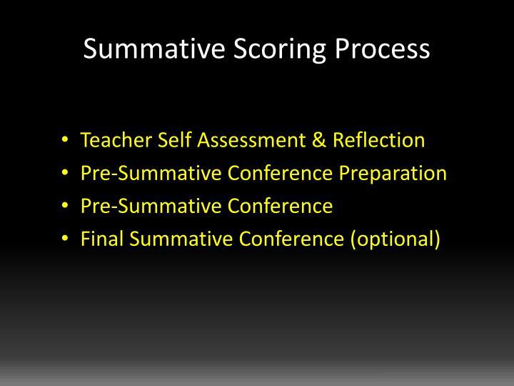 Summative Scoring Process