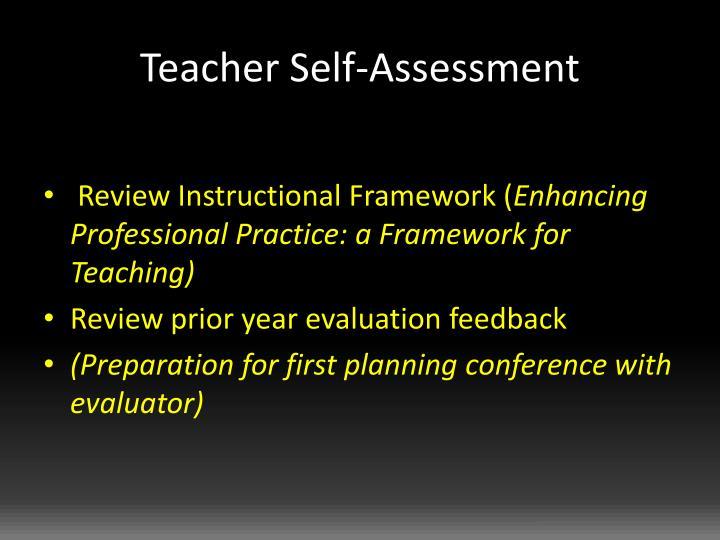Teacher Self-Assessment