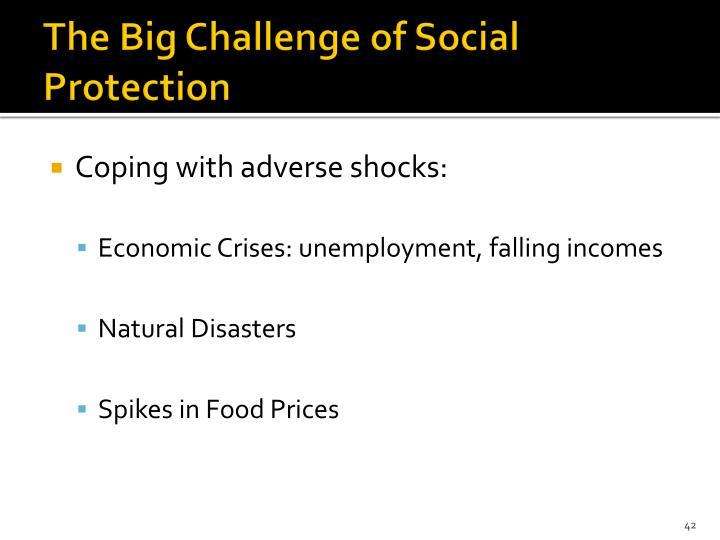 The Big Challenge of Social Protection