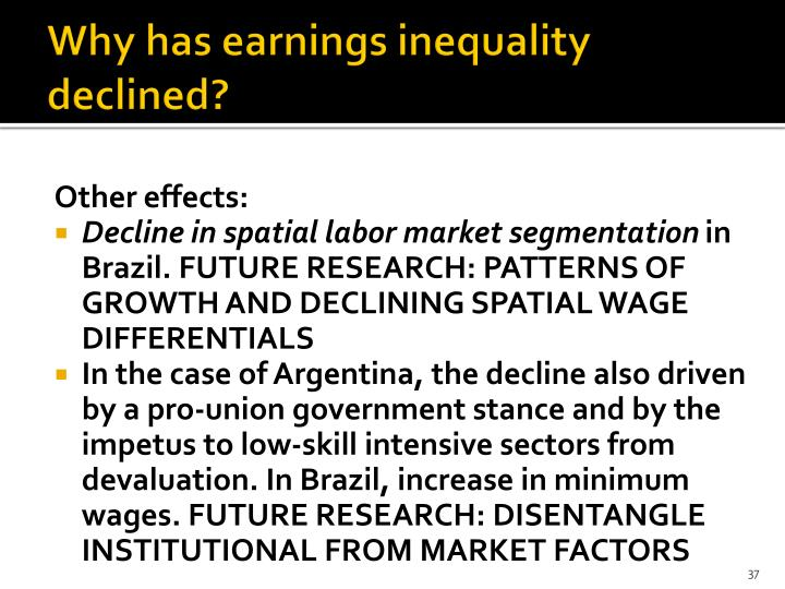 Why has earnings inequality declined?