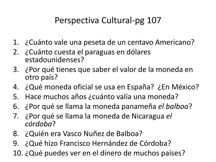 perspectiva cultural pg 107 n.