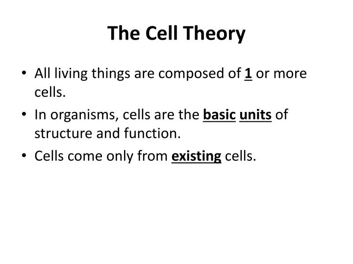 The Cell Theory