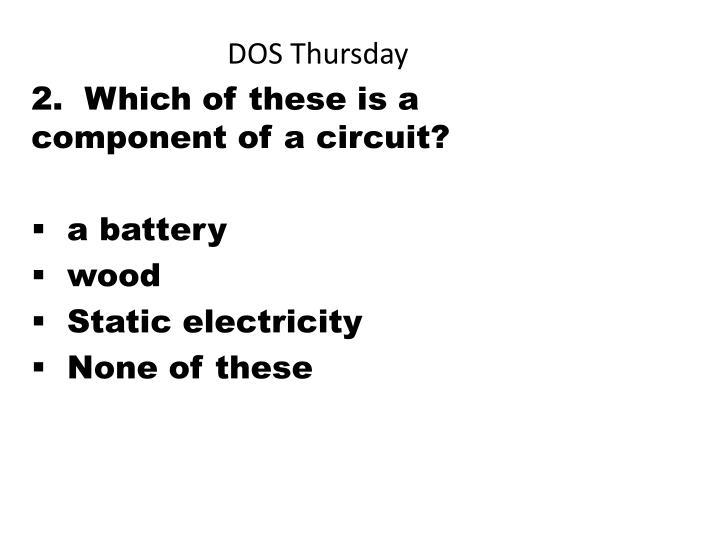 DOS Thursday