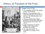 history of freedom of the press1