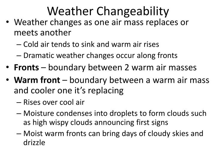 Weather Changeability