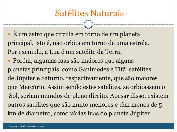 Satélites Naturais