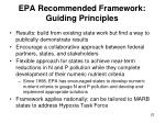 epa recommended framework guiding principles